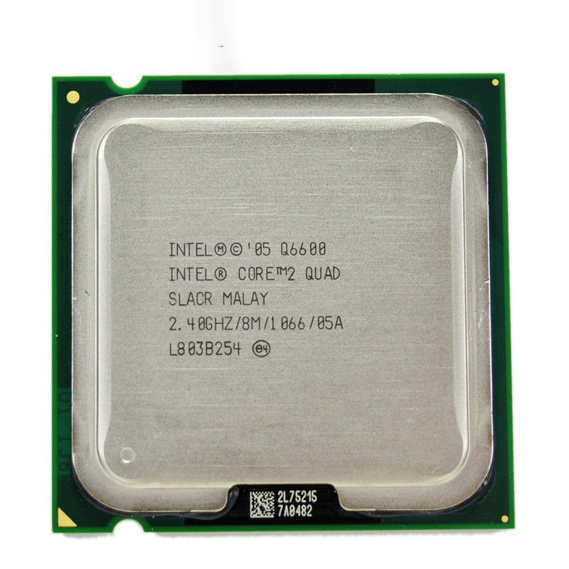 CPU INTEL QUAD CORE 2.4GHz 8MB CACHE SOK 775 PC1066 Q6600 TRY بدون مروحة ,Desktop CPU