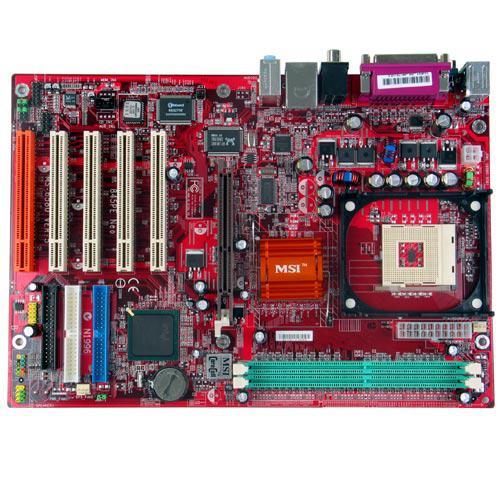 MB MSI P4 INTEL 845PE 533 DDR333 SB+LAN MS-6580 ,Desktop Mainboard
