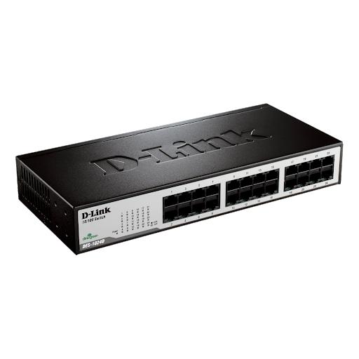 HUB 10/100 MB SWITCH 24 PORT D-LINK DES-1024D ,Wirless & Switch