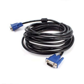 CABLE MONITOR VGA LCD 3M  اصلي مع مخمد ,Cable