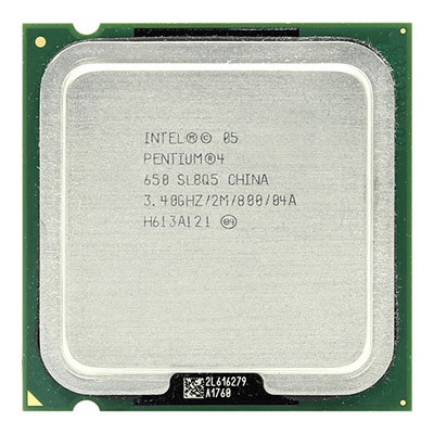 CPU INTEL P4 3.4GHZ 64BIT PC800 775 2M CACHE TRAY PULLED مستعمل ,Other Used Items