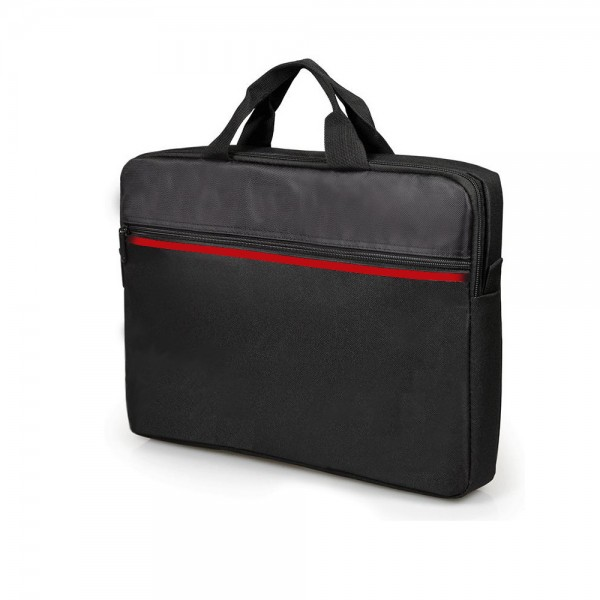 NOTEBOOK BAG 8709 قماش خط احمر  15.6 ,Laptop Bag