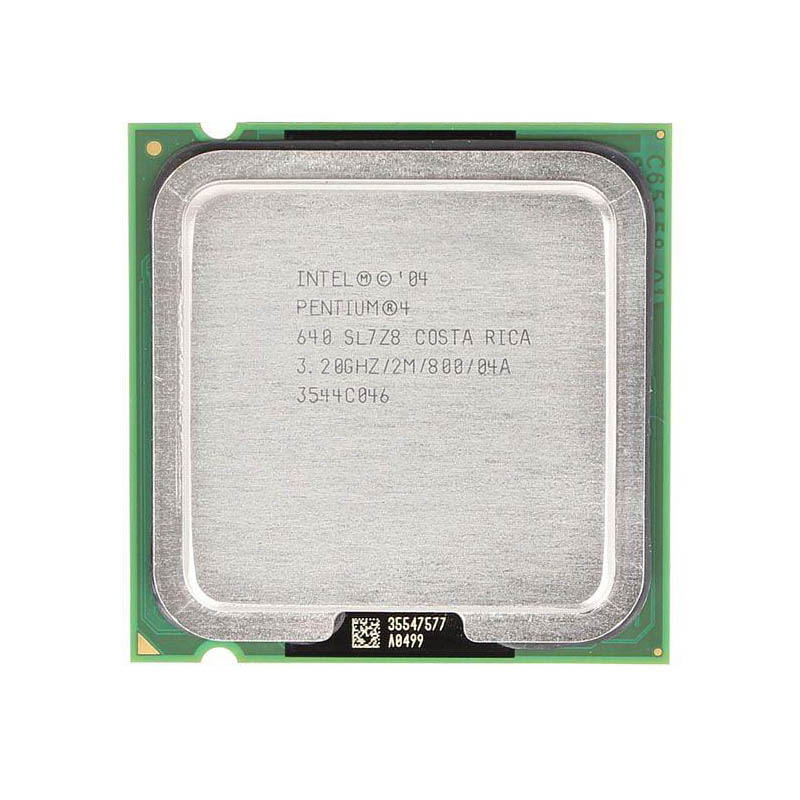 CPU INTEL P4 3.2GHZ  PC800 SOK775 2M CACHE 640 TRAY PULLED  مستعمل ,Other Used Items