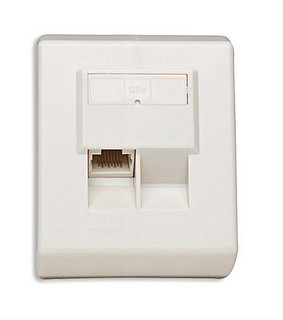 NETWORK OUTLET 1 PORT 45 ANGLED CAT5E UTP INTELLINET 408240, Network Accessories