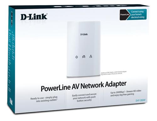 HOMEPLUG AV ETHERNET OVER AC POWERLINE ADAPTER 200Mbps D-LINK DHP-306AV, Network Accessories