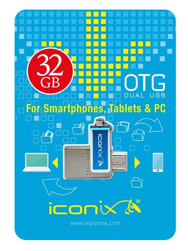 RAM USB 32GB FLASH I CONIX OTG معدنية ,Flash Memory