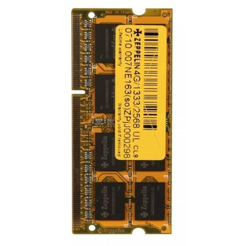 DDR3 4GB PC1333 ZEPPELIN NOTEBOOK مستعمل ,Other Used Items