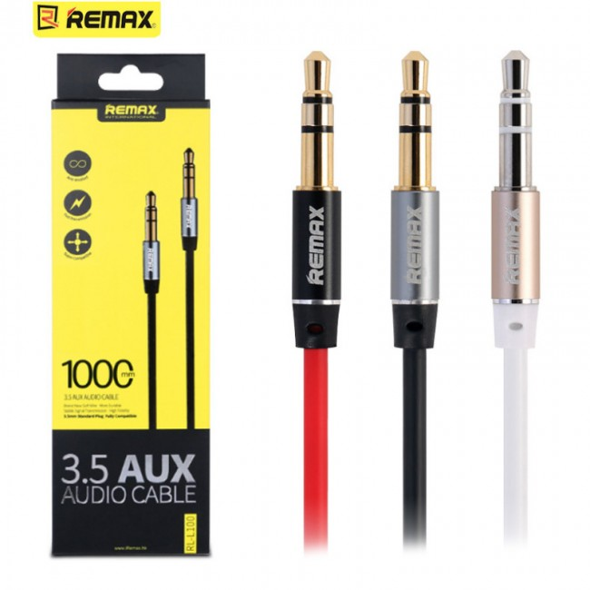 AUX AUDIO CABLE REMAX FOR MOBILE & MP3 RL-L100 3.5M ,Other Smartphone Acc