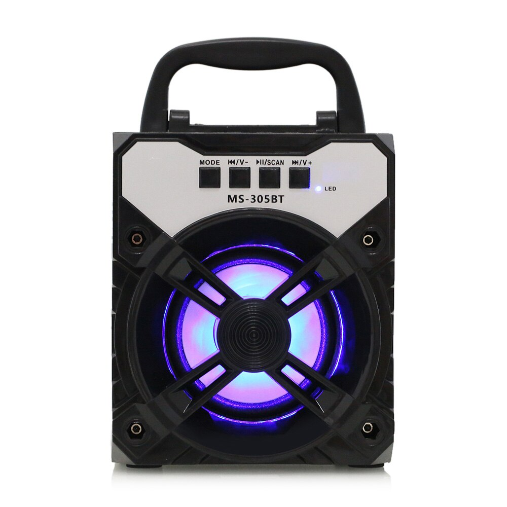 SPEAKER BLUETOOTH MS-305/6/7/8 BT DUAL-FLAT FOR MP3 & MOBILE & FM & SD CARD USB BIG COLOR ,Speakers