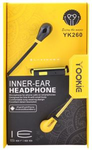 WIRD HEADSET YOOKIE FOR MOBILE IOS/ANDROID VOLUME & CALL CONTROL INNER-EAR YK260 EARPHONE COLOR ,Headphones & Mics