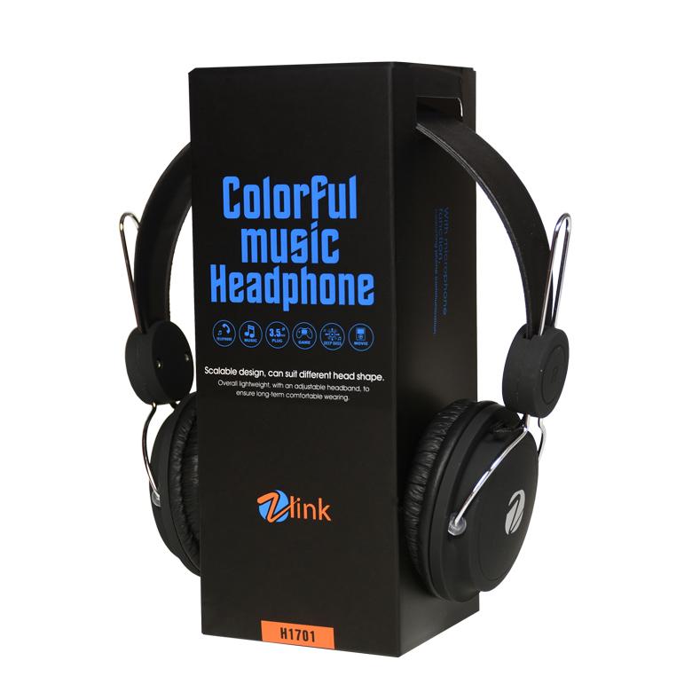 HEADPHONE ZLINK H1701 COLOR ,Headphones & Mics