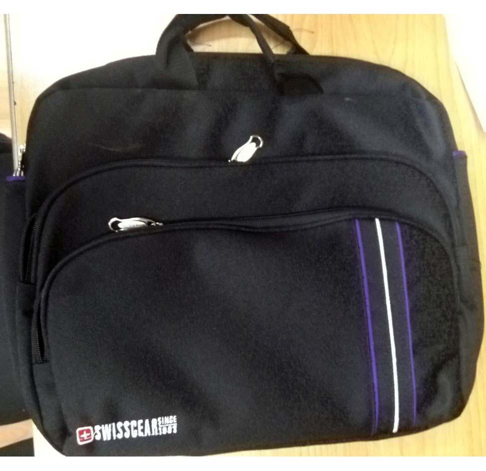 NOTEBOOK BAG 15.6 SWISSCEAR COLOR  قماش 3خطوط ,Laptop Bag
