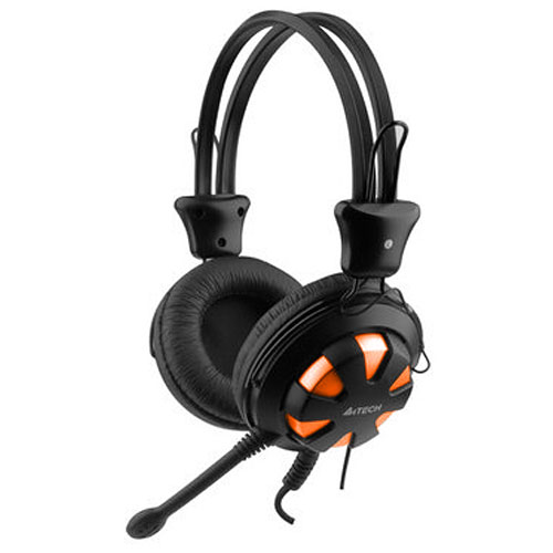 HEADSET GAMING A4TECH HS-28+VOLUM CONTROL+2MIC FOR PC ,Headphones & Mics