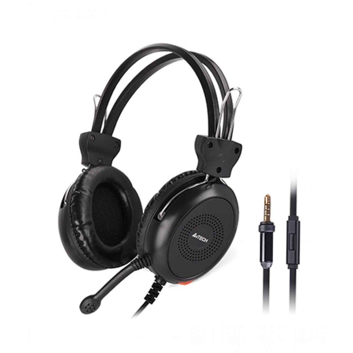 HEADSET A4TECH HS-30I +VOLUM CONTROL+ 4PIN STEREO PLUG FOR SMART PHONE AND NOTBOOK ,Headphones & Mics