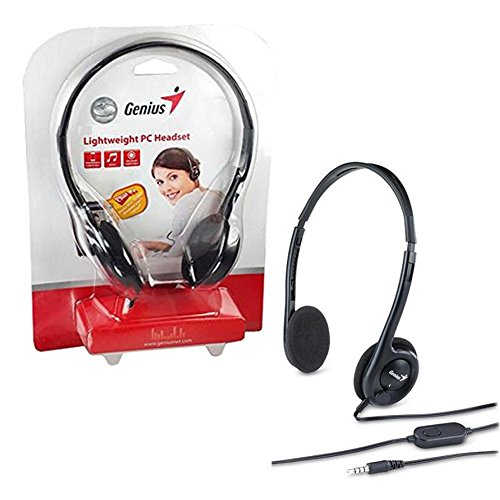 HEADSET GENIUS HS-M200C SINGLE PIN BLACK ,Headphones & Mics