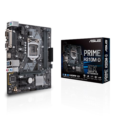 MB ASUS I7 INTEL PRIME H310M-D SOK1151 FOR 8TH/DDR4 UP TO 32 G/1 x M.2 Socket 3/LAN GIGABIT /COM /LPT PORT/HDMI+D-SUB /USB 3.1/TYPE-A/USB 2.0 ,Desktop Mainboard