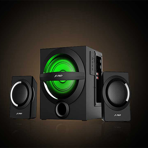 SUBWOOFER 2.1 F&D A140X USB+FM+BLUTOOTH + REMOTE +MULTI COLOR LED  FINDA ,Home Theater & Subwoofer