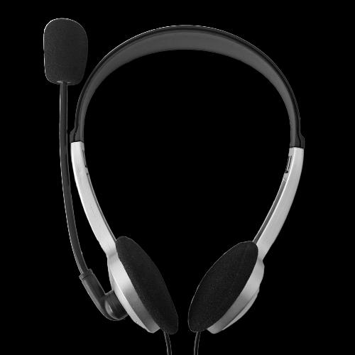 HEADSET & MIC TOUCHMATE BLACK TM-201 3.5MM STEREO PLUG X2 ,Headphones & Mics