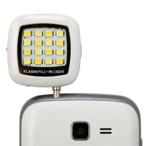 LED LIGHT FOR SMARTPHONE 16 LED RECHARGEABLE BATTERY ADJUSTABLE BRIGHTNESS قابل للشحن مع تحكم بشدة الاضائه FOR SELFIE PHOTOS ,Other Smartphone Acc
