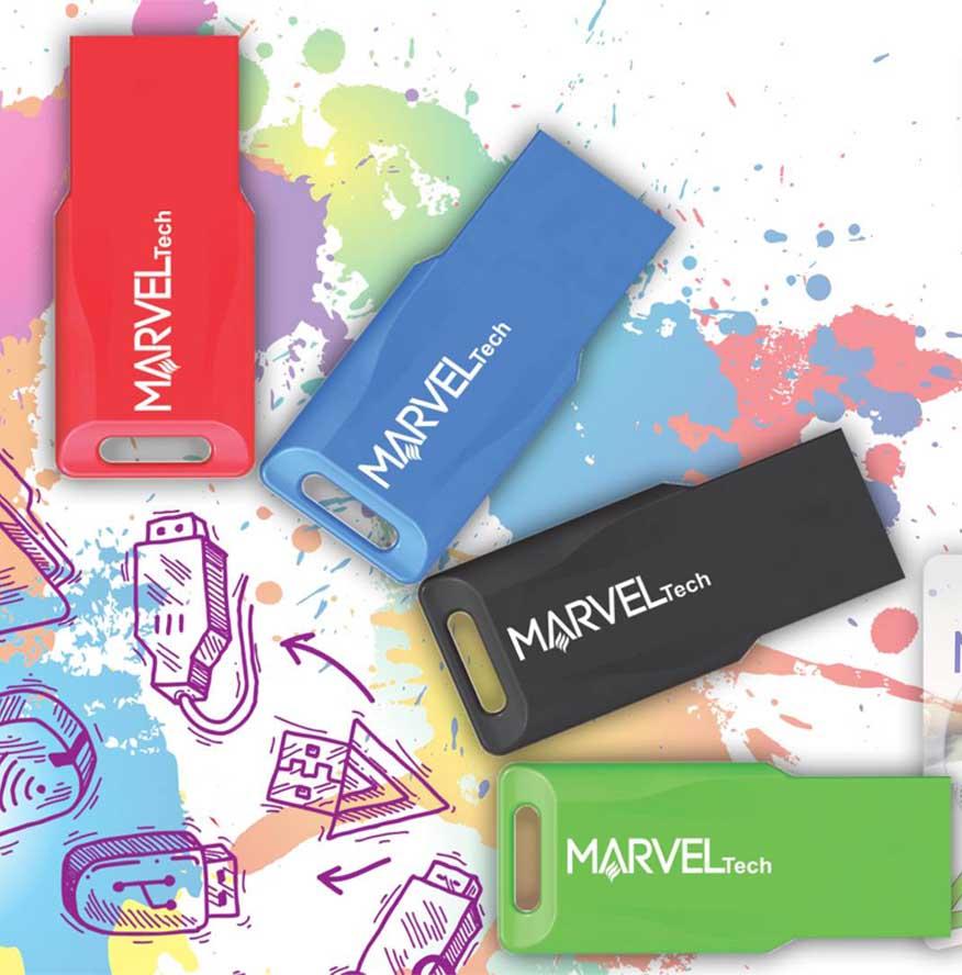 RAM USB 16GB FLASH MARVEL TECH USB2.0 COLOR ,Flash Memory