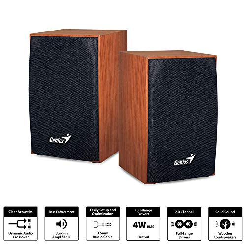SPEAKER GENIUS SP-HF160  WOODEN USB POWER ,Speakers