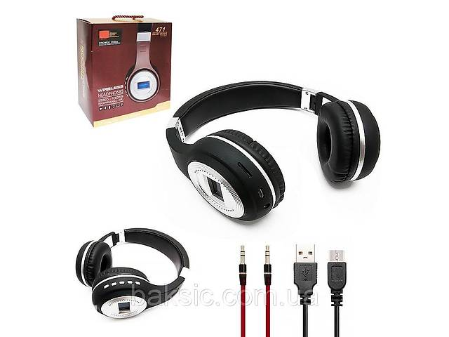 HEADPHONE BLUETOOTH JBL MICRO SD + FM RADIO + AUX + MIC - STEREO 471 - COLOR ,Smartphones & Tab Headsets