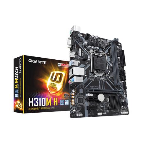 MB GIGABYTE I7 INTEL H310M-S2H SOK1151 FOR 8TH&9TH GEN/DDR4 UP TO 32 G/1 x M.2 Socket /LAN GIGABIT /HDMI+D-SUB /USB 3.1/USB 2.0 ,Desktop Mainboard