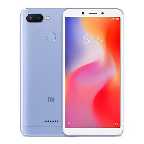 MOBILE PHONE XIAOMI 5.45 OCTA CORE 2.0GHZ 4GB 64GB DUAL SIM REDMI 6  BLUE  كفالة ذهبية ,Android Smartphone