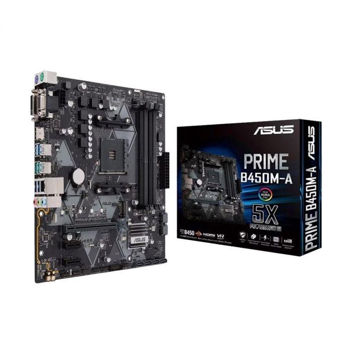 MB ASUS AMD PRIME B450M-A AM4 RGB DDR4 3200MHz M.2 HDMI 2.0b SATA 6Gbps and USB 3.1 Gen 2 +AMD RYZEN 3 PRO 2200G ,Desktop Mainboard