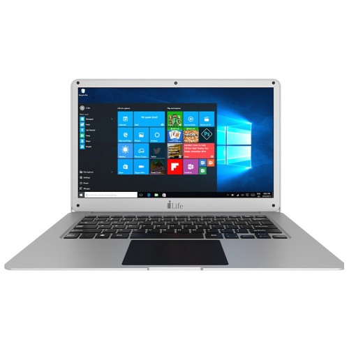 NOTEBOOK I-LIFE ZEDAIR H ATOM QUAD CORE 1.33 UP TO 1.86GHz 2M 2G 32GSSD+500GB 14.1 WIN10 SILVER ,Laptop Pc