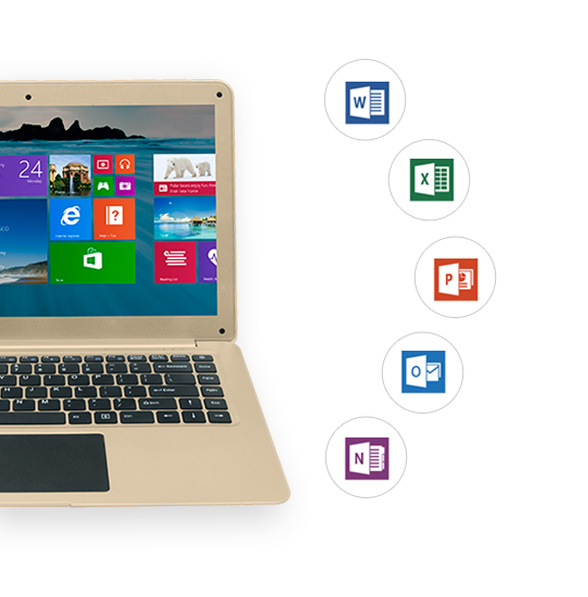 NOTEBOOK I-LIFE ZEDAIR H ATOM QUAD CORE 1.33 UP TO 1.86GHz 2M 2G 32GSSD+500GB 14.1 WIN10 GOLD ,Laptop Pc