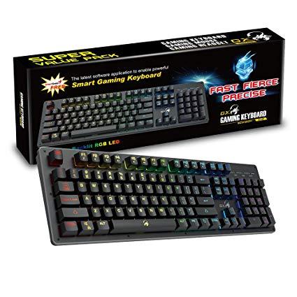 KEYBOARD GX GENIUS SCORPION K10 MECHANICAL FEEL KEY RGB BACKLIGHT ,Keyboard