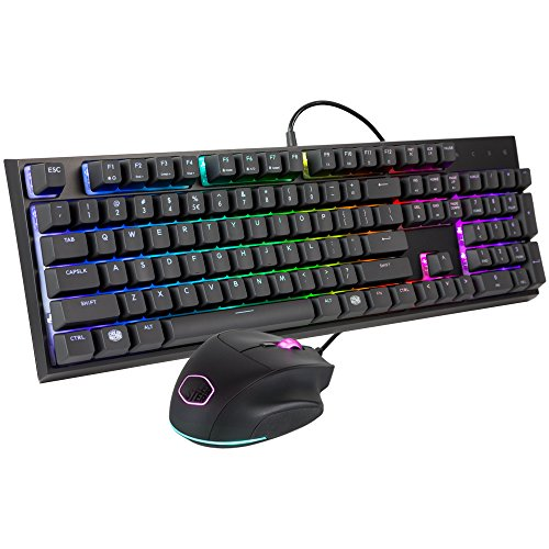 KEYBOARD COMPO GAMING COOLER MASTER MEN-CHANICAL RGB+MOUSE RGB  LIGHTING/ DPI ,Keyboard