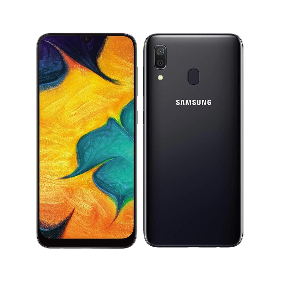 MOBILE PHONE SAMSUNG 6.4 OCTA CORE 1.8GHZ 4GB 64GB DUAL SIM GALAXY A30 - BLACK كفالة شبكة - - - - ,Android Smartphone