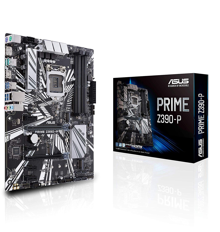 MB ASUS I9 INTEL PRIME Z390-P  SOK1151 8th/9th GEN INTEL DDR4 Max 64GB M.2 USB 3.1 ,Desktop Mainboard