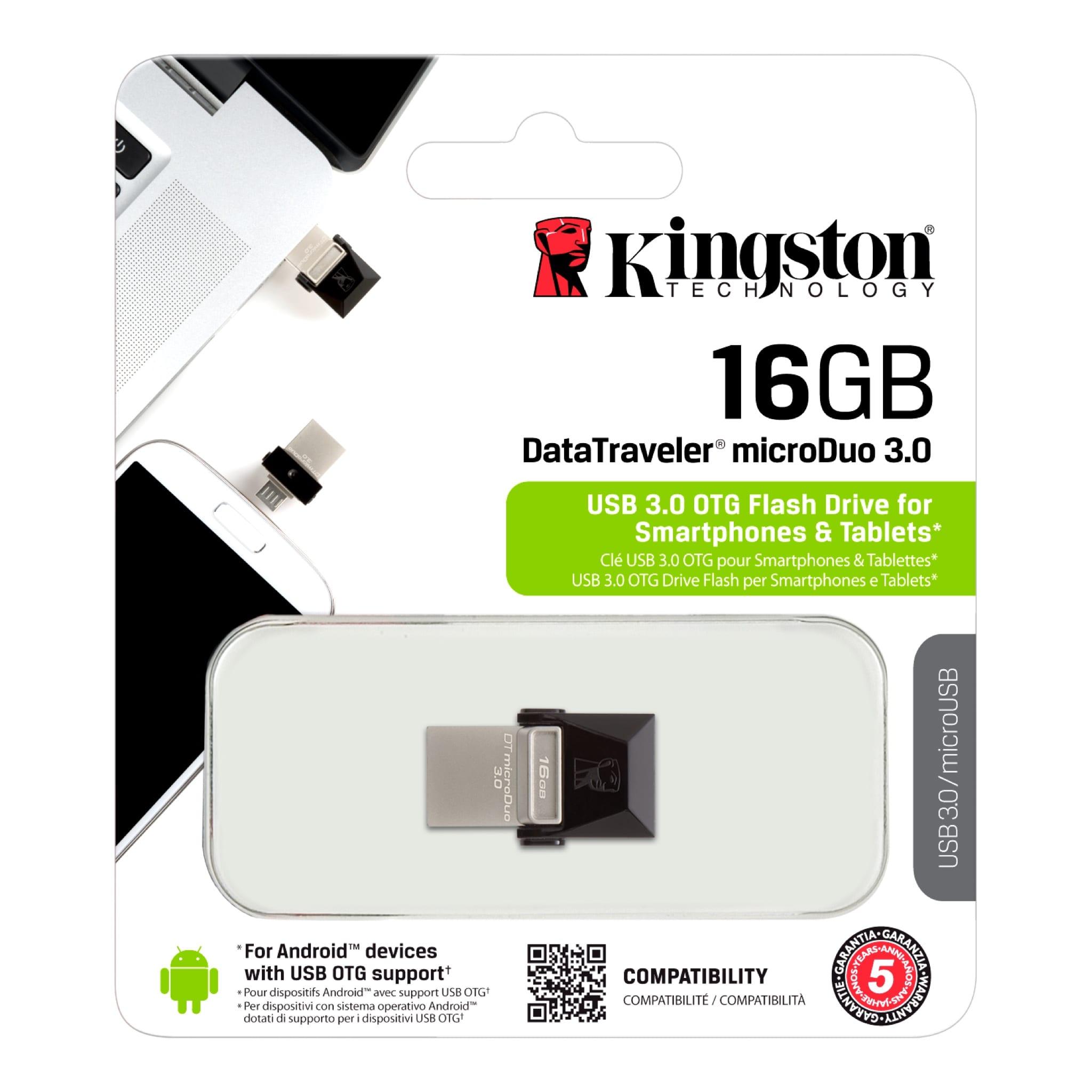 RAM USB 16GB KINGSTON OTG USB3.0 BLACK ,Flash Memory