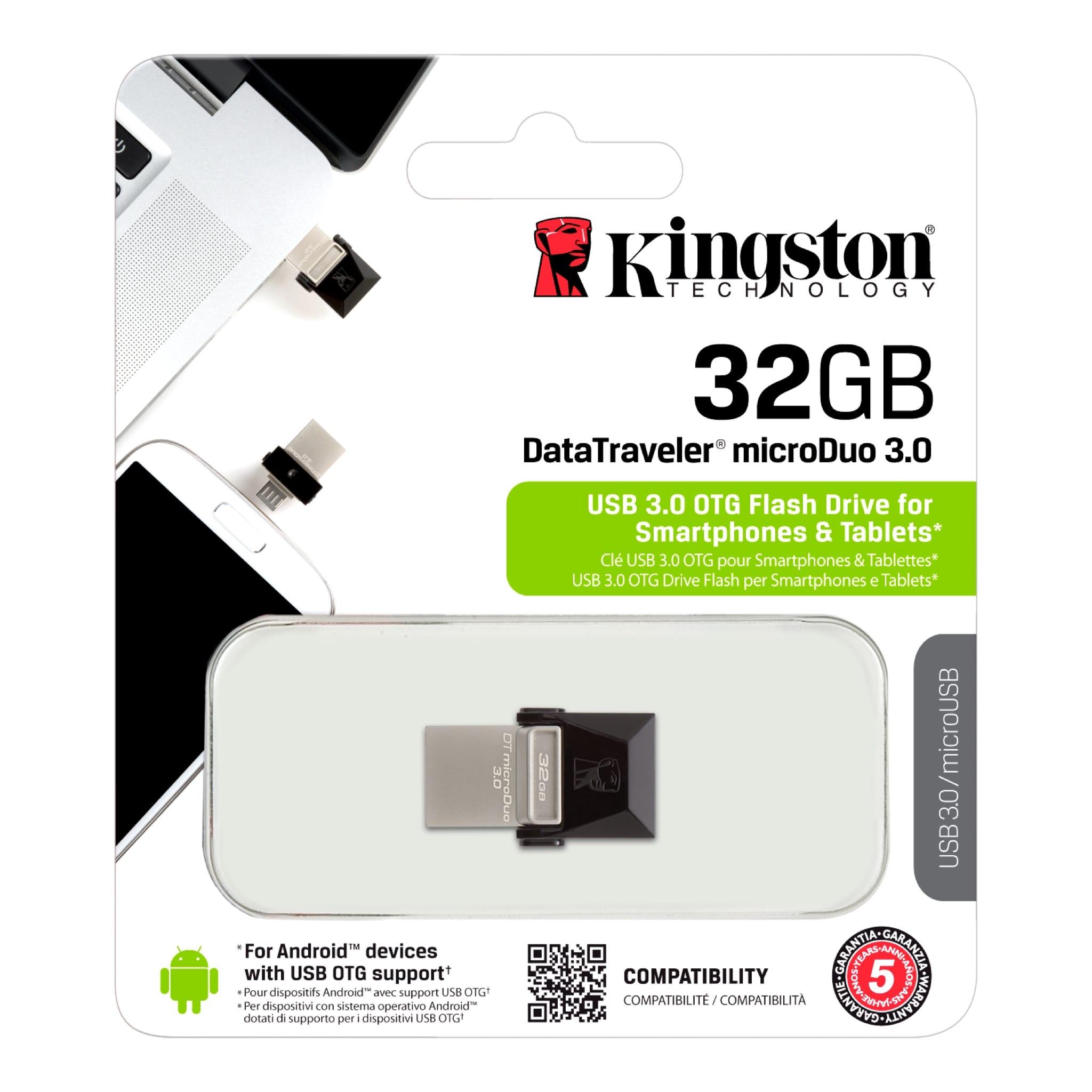 RAM USB 32GB KINGSTON OTG USB3.0 BLACK ,Flash Memory