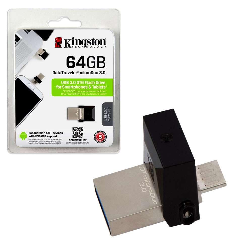 RAM USB 64GB KINGSTON OTG USB3.0 BLACK ,Flash Memory