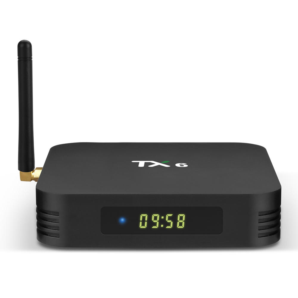 SMART TV BOX ANDROID TX6  - QUAD CORE RAM 4G / STORAGE 32G - 4K - WIFI - HDMI -2 PORT USB2+1 PORT USB3 - LAN - ANDROID 9.0 ,Other Smartphone Acc