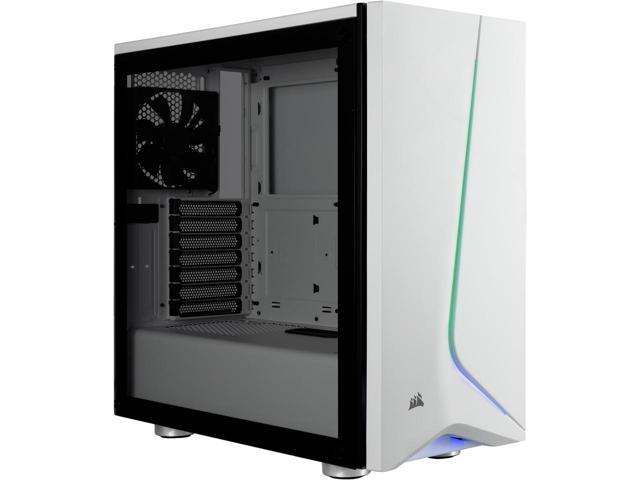 CASE CORSAIR GAMING MIDDLE TOWER SPEC-06 RGB CARBIDE SERIES TEMPERED GLASS WHITE CC-9011147-WW ,Case & Power Supply