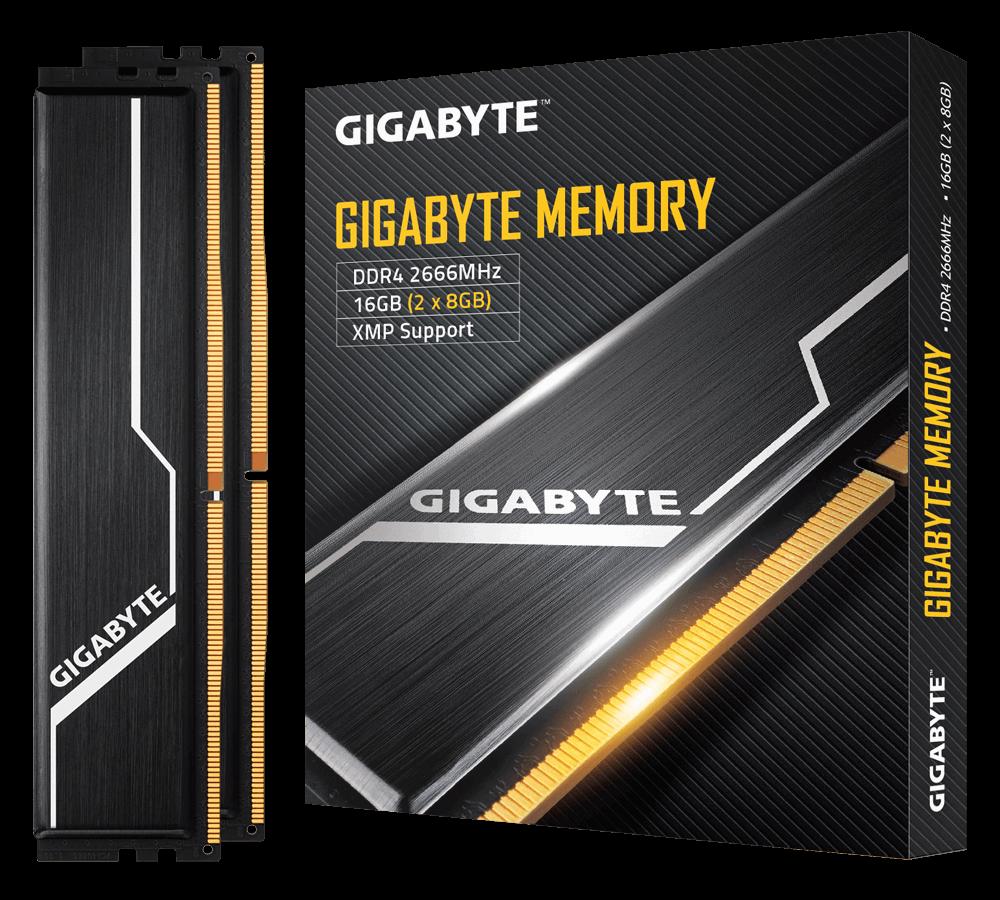 DDR4 GIGABYTE 8GB PC2666 BOX FOR PC HIGH EFFICIENT CLASSIC BLACK HEAT SPREADERS ,Desktop RAM