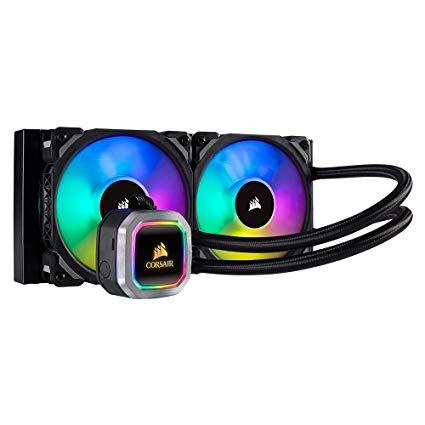 LIQUIDE CPU COOLER CORSAIR H100I PRO FOR AMD & INTEL HYDRO SERIES RGB 240mm - قطعة ,Fan Cooler