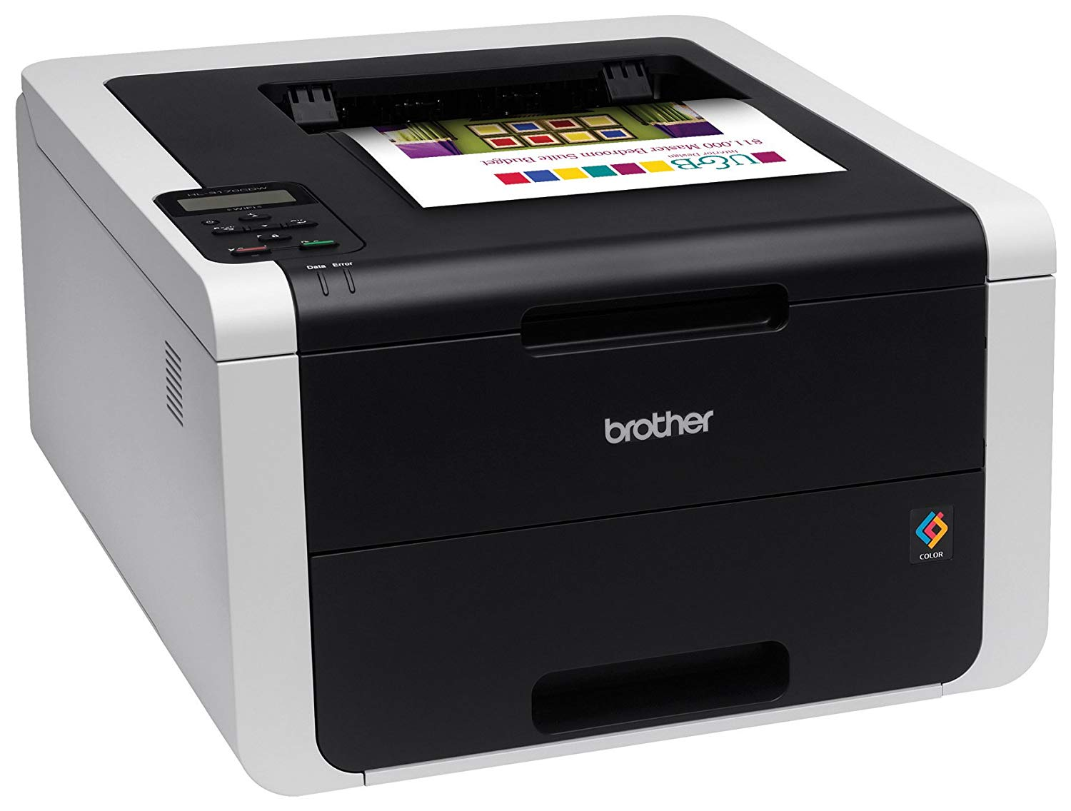 PRINTER BROTHER COLOR LASER HL-3170 CDW  DUPLEX + WIRELESS ,Laser Printer