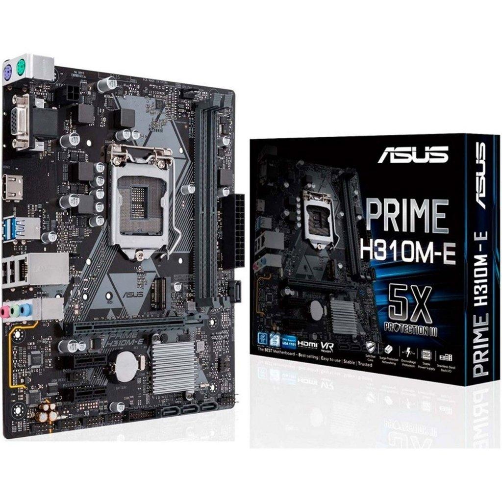 MB ASUS I7 INTEL H310M-E  SOK1151 FOR 8TH/DDR4 UP TO 32 G/LAN GIGABIT /HDMI+D-SUB /USB 3.1/M.2 ,Desktop Mainboard