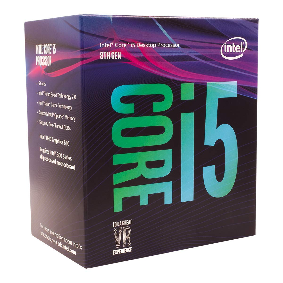 CPU INTEL CORE™ i5 8400 TH GEN 2.8 GHz 9MB CACHE SOK LGA 1151 TRAY بدون مروحه ,Desktop CPU
