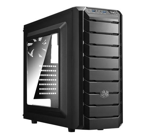 CASE COOLER MASTER CMP 500 GAMING P4 MIDDLE TOWER 2xFRONT RED LED FAN+MWE 500/CECMP-500-1RWRA50 البور سبلاي كفاله 90 يوم ,Case & Power Supply
