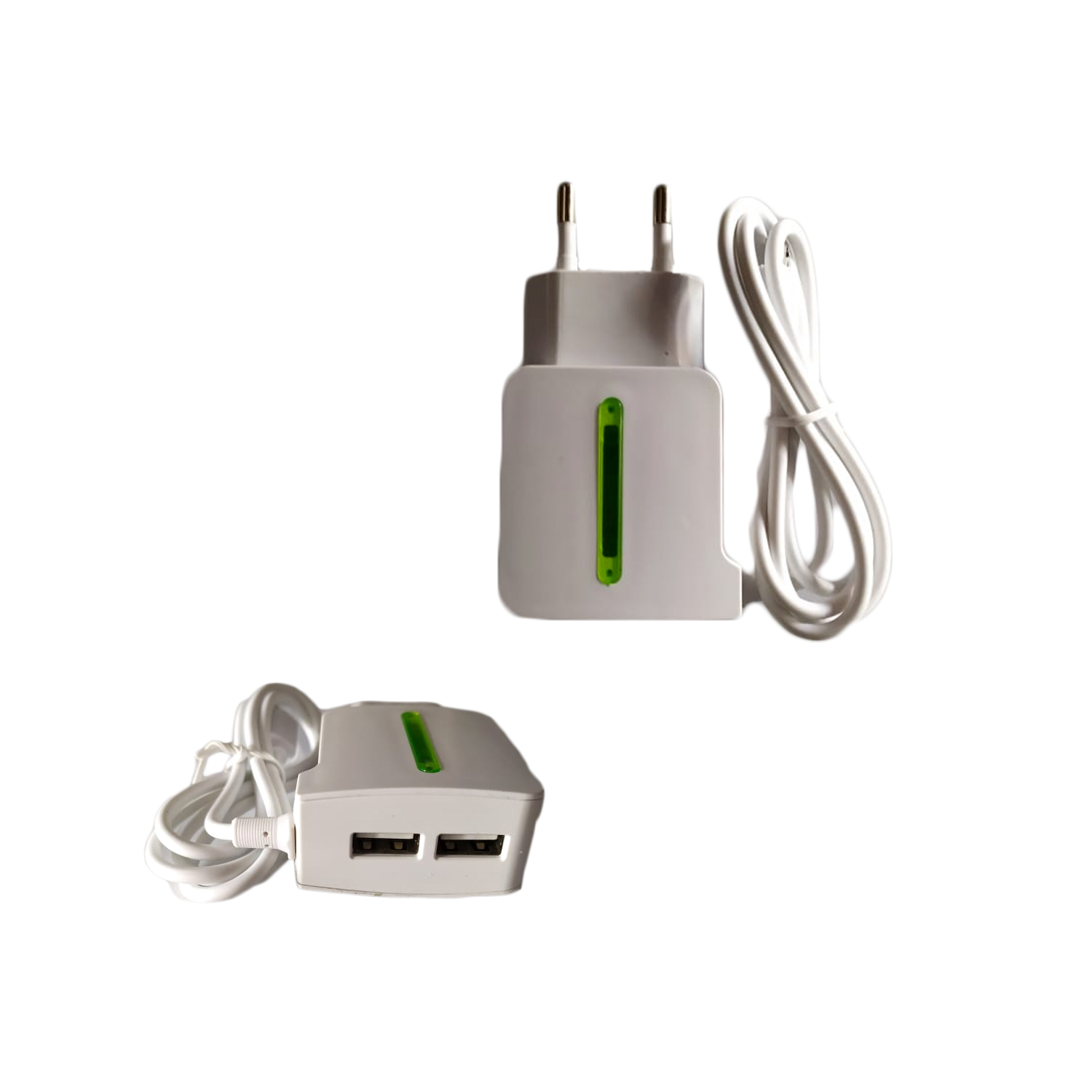 CHARGER BEST MICRO FOR MOBILE  -1.5A -شاحن مدخلين مع كبل مدمج ,Smartphones & Tab Chargers