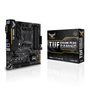 MB ASUS AMD TUF PRIME B450M-PLUS DDR4 AM4 AMD SATA + CPU AMD RYZEN 7 3700X 8-Core 16-Thread ,Desktop Mainboard