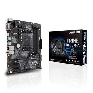 MB ASUS AMD PRIME B450M-A AM4 RGB DDR4 3200MHz M.2 HDMI 2.0b SATA 6Gbps and USB 3.1 Gen 2 +CPU AMD RYZEN 5 3600 BOX 6CORE 12THREAD 3.6GHZ UP TO 4.2GHZ ,Desktop Mainboard
