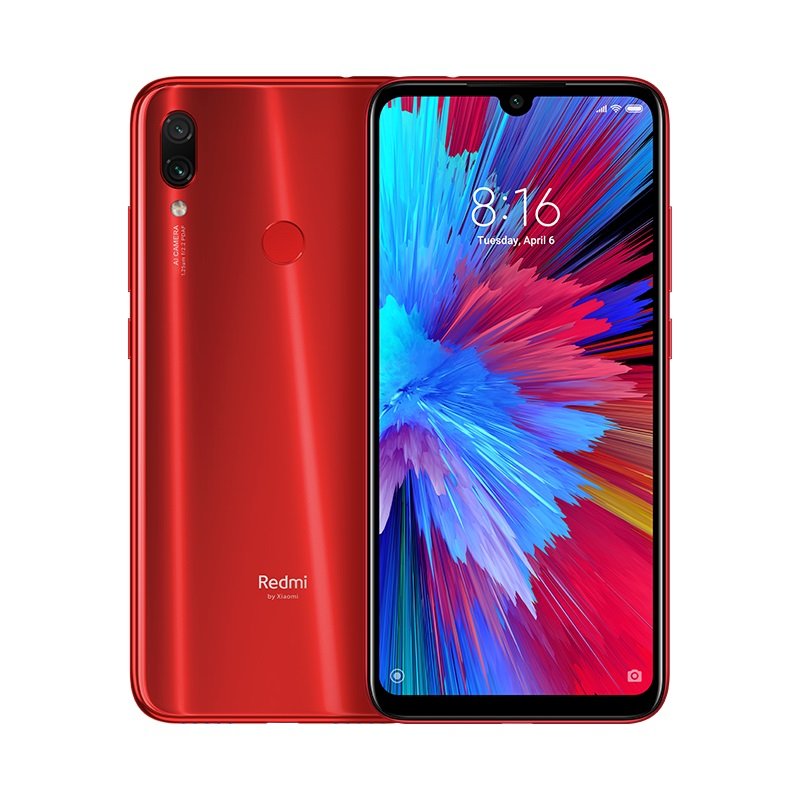 MOBILE PHONE XIAOMI 6.3 OCTA CORE 1.8GHZ 4GB 128GB DUAL SIM REDMI NOTE 7  RED كفالة ذهبية ,Android Smartphone